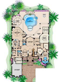 Florida House Plan ID: chp-37189 - COOLhouseplans.com