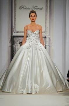Pnina Tornai: Princess/Ball Gown Wedding Dress with Sweetheart Neckline and Natural Waist Waistline