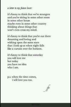 Dear future husband √