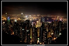 Beautiful Hong Kong Skyline from Victoria Peak