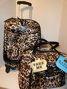 Just bought this at Ross for a fraction of the price :) KATHY VAN ZEELAND Luggage Set wheeled Cheetah EXOTIC EDGE CarryOn Tote