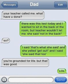 The Web Babbler: Funny Texts #1