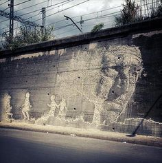 New Mural by Vhils in Spain - mashKULTURE