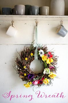 Spring Wreath with f