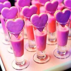 Strawberry milk with sugar cookies! Great for a Valentine dessert.