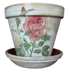 Shabby chic rose vin