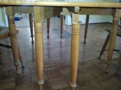 Willett Furniture..close up of maple dining table