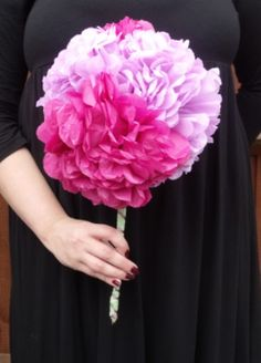 paper wedding flowers for bouquets and table centre displays