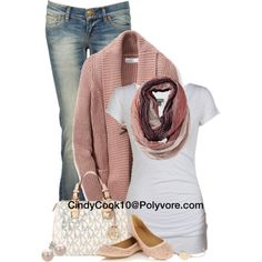 """""""Jeans and Tee"""" by cindycook10 on Polyvore"""