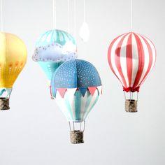 hot air balloon diy, patterns, balloon mobil, craft schmaft, mobiles, babi, epattern pdf, hot air balloons, craftschmaft