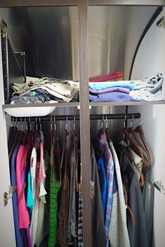 Wardrobe with cascading hangers for extra storage