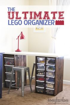 The Ultimate Lego Organizer - but could be for craft supplies and stuff!!!