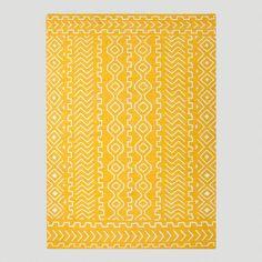 Yellow Nira Flat-Woven Wool Rug