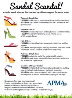 How to wear those summer shoes and still keep your feet healthy.
