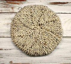 Knit Hat Womens Hat  Meriweather Wedge Beret Hat in Oatmeal by pixiebell, $50.00