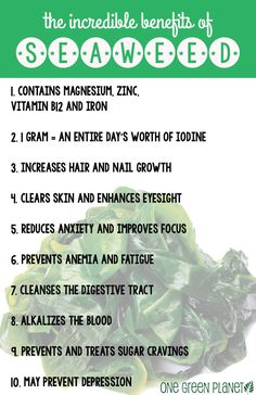 Seaweed Decoded: Why It's Essential On A Vegan Diet http://onegr.pl/1kGHcwL #vegan #plantstrong #superfood