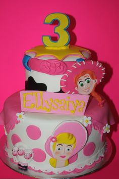 toy story cake for girls | toy story girl cake girly themed toy story cake
