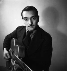 Django Reinhardt, Paris, 1933  Photo by - Emile Savitry