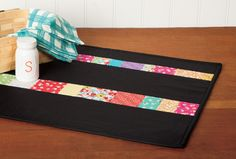 Week 12 of 12 Weeks of Christmas – Scrappy Quilt-As-You-Go Coins Table Runner » Notions - The Connecting Threads Quilt Blog