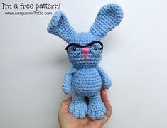 Amigurumi Bunny with Glasses - FREE Crochet Pattern / Tutorial by Amigurumi To Go