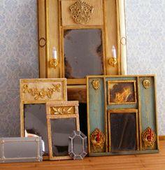DIY Miniature mirrors