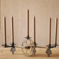 Recycled Bicycle Pedal Sprocket Candelabra