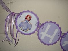 Sofia the First Happy Birthday Banner, Sofia The First Banner | Timberlysdesigns - Paper/Books on ArtFire