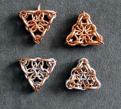 Tutorial on making chainmaille triangles