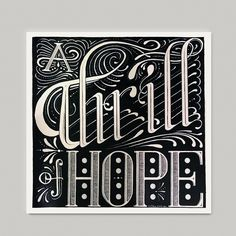 """""""A Thrill of Hope"""" Christmas print"""