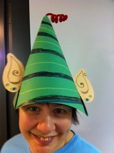 Elf on a Shelf - Activity: Have the munchkins make elf hats to get in the spirit