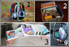 Ideas on getting the car organized.  Do you have any great tips on how to keep your car organized with kids?