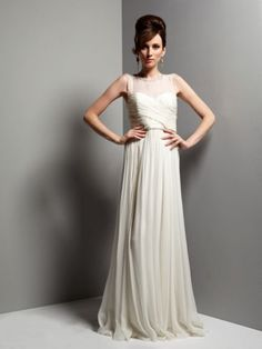 Biba Lily sheer and beaded maxi bridal gown Ivory - House of Fraser