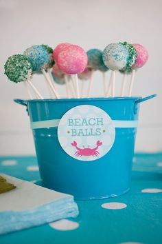 This is were Nana needs to step in with baking skills beach food kids, beach bday cake, kids beach cakes, beach theme cakes for kids, beach party food for kids, beach parties for kids, beach ball birthday cake, cake pop, beach balls cupcake toppers