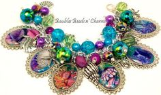 Watercolor Ocean Sea Charm Bracelet Jewelry by baublesbeadsncharms, $39.88