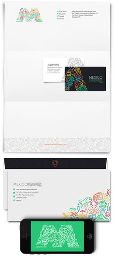 Mexico Finder   Corporate Identity on Behance