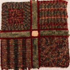 Wooly Quilter: Shows how plaid looks when hooked different ways
