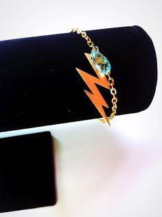 Gold OKC Thunder Bracelet with Rain Drop by SHUNTLA on Etsy, $7.00