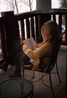 Reading On The Porch<3