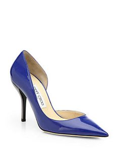 [Jimmy Choo] <3 Willis Patent Leather d'Orsay Pumps