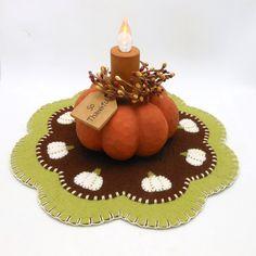 Pumpkin Design Penny Rug
