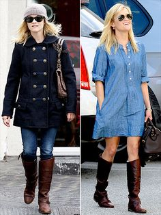 reese witherspoon, ride boot, rees witherspoon, travel cloth, dress, riding boots, health tips women, attract travel, beauti care