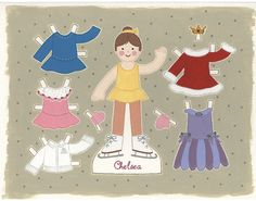 Digital Art_Painting_PERSONALIZED_Paper Doll by LagniappeToo, $12.99