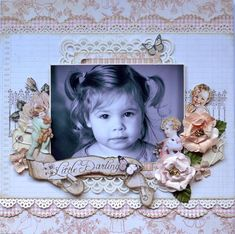 Don't you just love this Little Darlings layout from Karen Shady?? Wow, what amazing composition! #graphic45 #layouts #scrapbooking