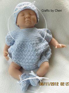 Cheri's Crochet Baby or reborn baby doll clothing or craftsbycheri @ http://craftsbycheri.blogspot.com/