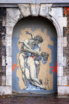 Zilda - street artist...art for the sake of living...TWA