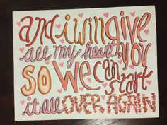 Over Again by One Direction Lyric Art by AlainasArt on Etsy, $5.00