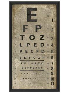 Eye Chart by Artwork Enclosed