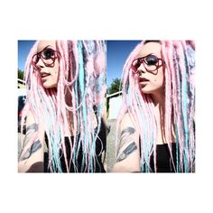 synthetic dreads | Tumblr found on Polyvore