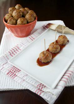 Paleo Maple Apple Meatballs appl meatbal, mapl appl