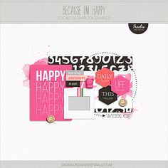 Quality DigiScrap Freebies: Because I'm Happy tiny kit freebie from Digital Design Essentials